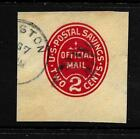 HICK GIRL STAMP OLD USED CUT SQUARE ENVELOPE SCUO72 POSTAL SAVING X6068