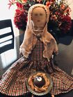 Primitive Early look Farmhouse Colonial Doll Plum Pudding Ornament