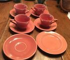 Rare Vintage Fiestaware 10 Pcs  Homer Laughlin Original Rose Color Free Shipping