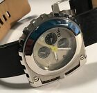 DIESEL MEN'S WATCH DZ 4106 ONLY THE BRAVE STAINLESS STEEL BLACK LEATHER BAND