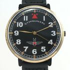 ZARYA STURMANSKIE AVIATOR military LARGE vintage Russian Soviet watch USSR Laco