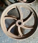 1 VINTAGE FACTORY CART WHEEL 12 inch Lineberry ? Antique cast iron