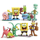 SpongeBob SquarePants Patrick Sandy Gary 8 PCS Action Figure Cake Topper Toys US