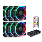 Lots RGB LED Quiet Computer Case PC Cooling Fan 120mm with Remote Control