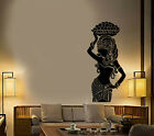 Vinyl Wall Decal African Native Girl Turban Ethnic Style Stickers 3414ig