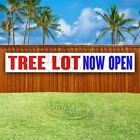 Tree Lot Now Open Advertising Vinyl Banner Flag Sign Large Huge Xxl Size