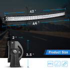 5250423222inch Curved Led Light Bar Driving Truck Suv Boat Offroad 672w700w
