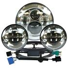 For Harley Touring 7 Chrome LED Projector Headlight + Passing Lights