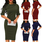 Fashion Womens Office Lady Formal Business Work Party Sheath Tunic Pencil Dress