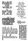 Bake Cooking Set CLEAR Unmounted Rubber Stamps Impression Obsession CL719 New