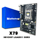 X79 Gaming Motherboard LGA 2011 ATX 4 Channels All Solid Board Support E5 2670