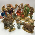 Vintage Atlantic Mold Nativity Ceramic 19 Pc Set Beautifully Hand Painted 1971
