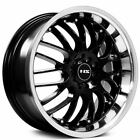 Set4 17 NS Wheels Tunner NS9003 Black with Machined Lip Rims