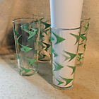Set 4 Vintage ATOMIC Boomerang Mid Century Highball Glasses 16Oz Tumbler Modern