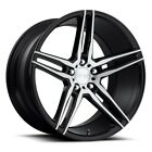 New4 20 Staggered Niche Wheels M169 Turin Black Brush Rims FS