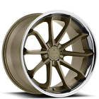 4Rims 20 Blaque Diamond Wheels BD 23 Matte Bronze with Chrome SS Lip Rims FS