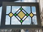 ANTIQUE GOTHIC MANSION STAINED GLASS WINDOW ENGLISH LEADED SMALL