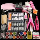 Coscelia Acrylic Nail Kit Powders Glitter Liquid French Brush Tips Manicure Set
