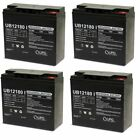4 PACK UPG UB12180 12V 18AH SLA Insert Terminal Battery for Zap Zappy Classic