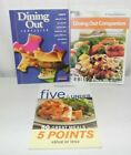 Weight Watchers Lot of 3 Dining Out Companion  Five and Under 50 meals books