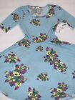 Lularoe Baby Blue Easter Spring Floral Nicole NWT M