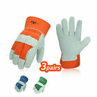 Vgo 3pairs Cow Split Leather Work Glovesdriver Gloves Garden Glovescb3501