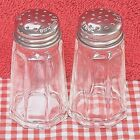 1 Oz PANELED Restaurant Salt  Pepper Shaker Set Clear Glass Stainless Lid