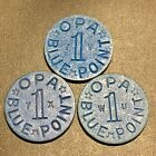 Old WWII US Blue Point Ration Tokens OPA Letters TV TX WU WW2