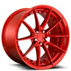 4pcs 20 Staggered Niche Wheels M213 Sector Gloss Red Rims CA