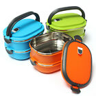 US 1 2 Layer Stainless Steel Insulated Bento Food Thermal Container Lunch Box