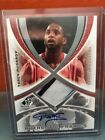 2005 Upper Deck SP Gamed Used Tracy McGrady Auto & 3 Color Patch