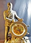 CLOCK F.D.R. MAN OF THE HOUR 1933, METAL, ORIGINAL LITHO CLOCK FACE 15 in