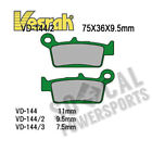 2001-2009 Gas Gas EC125 Dirt Bike Vesrah Rear Brake Pads (Organic)