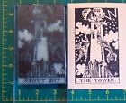 UM Tarot Card rubber stamp 16 The Tower full size