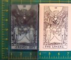 UM Tarot Card rubber stamp 6 The Lovers full size