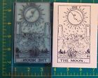 UM Tarot Card rubber stamp 18 The Moon full size