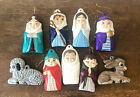 Lot of 9 Vintage Nativity Scene Set Baby Jesus Mary Joseph Wisemen Animals