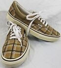 VANS OFF THE WALL Mens 9 Womens 105 Brown Plaid Lace Up Sneakers Tennis Shoes