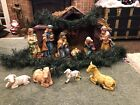 ABSOLUTELY GORGEOUS NATIVITY COLLECTION 12 PIECE SET W STABLE ORIGINAL BOX