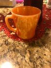 Anchor Hocking Fire-King Peach Lustre Luster Glass Coffee Mug Cup