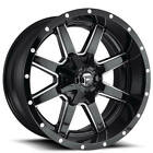 4 New 22x10 Fuel Wheels D610 Maverick Gloss Black Milled Off Road Rims CA