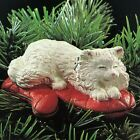 1995 Hallmark Cat Nap Clip-on #2 in series Napping on Oven Mitt Baking Ornament