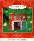 2001 Hallmark Ornament Fire Station No. 1 Town & Country Series #3