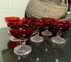 3 Midcentury Anchor Hocking Ruby Red Bubble Foot 4
