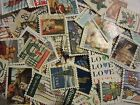CHRISTMAS AND LOVE STAMP HOARD ALL DIFFERENT USED USA FREE SHIPPING