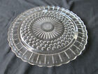 Vintage Federal Glass 2889 Clear Footed Cake Plate Torte Platter