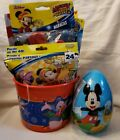 Mickey Mouse Filled Easter Basket Birthday color pez Egg candy puzzle maracas