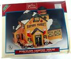 Lemax village collection 1998 farmers market Porcelain Lighted House in box rare