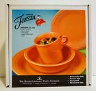 Fiesta 4 Piece Place Setting - Tangerine 831 325 - NEW IN BOX - Homer Laughlin