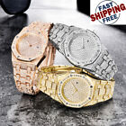 NEW HOT Luxury Brand Diamond Gold Watches Quartz Mens HipHop Iced Out Rapper